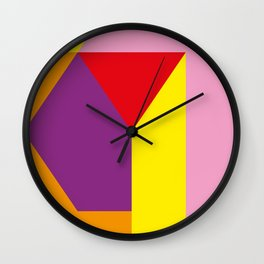 Geometrical, random, colorful, triangles, diagonal, etcetera.... No ideas for a title right now... s Wall Clock