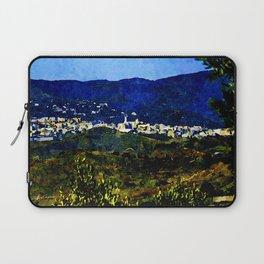Calabria landscape with Catanzaro city and Sila mountain Laptop Sleeve