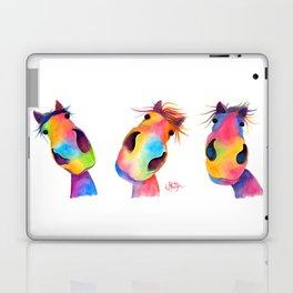 ' THe HaPPY HoRSeS ' HoRSe PRiNT, WaLL ART, HoRSe DeCoR Laptop & iPad Skin