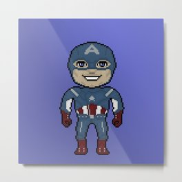 Pixelated Heroes Capt. America Super Hero Metal Print