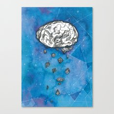 My brain in the cosmos Canvas Print