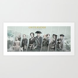 Family reunion in America Art Print