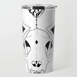 Geometry Cat Skull Travel Mug