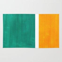 Colorful Bright Minimalist Rothko Minimalist Midcentury Art Marine Green Gold Vintage Pop Art Rug