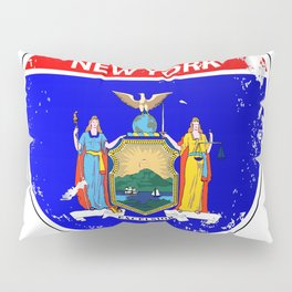 New York Flag Icons As Interstate Sign Pillow Sham