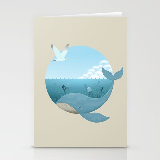 Whale & Seagull (US and THEM) Stationery Cards