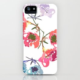 flowing flowers iPhone Case