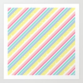 Party stripes Art Print