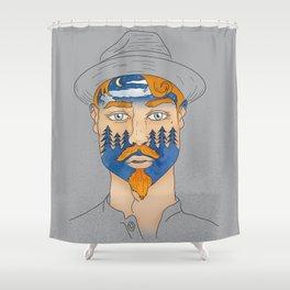 Forest Man Shower Curtain
