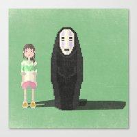 spirited away Canvas Prints featuring spirited away by pixel.pwn | AK