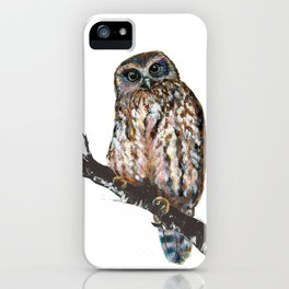 Mrs Ruru, New Zealand Morepork Owl iPhone Case