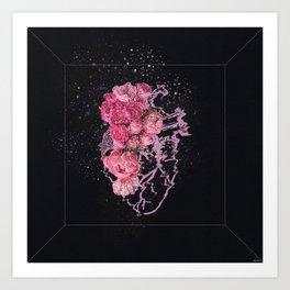 Heartful of rainbows Art Print