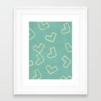 socks Framed Art Prints featuring Socks by sinonelineman