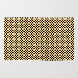 Lemon Drop and Black Polka Dots Rug
