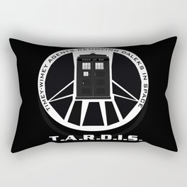 Agents of TARDIS black and white Agents of Shield, Doctor Who mash up Rectangular Pillow