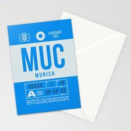 Luggage Tag B - MUC Munich Germany Stationery Cards