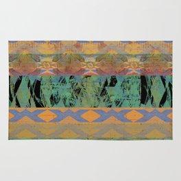 Rustic Desert Turquoise Southwest Rug