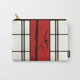 Shoji with bamboo ink painting Carry-All Pouch