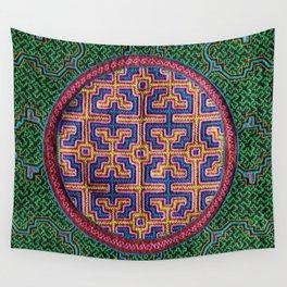 Song for Creativity - Traditional Shipibo Art - Indigenous Ayahuasca Patterns Wall Tapestry