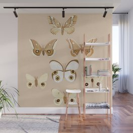 pale moths Wall Mural