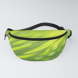 Palm tree leaves Tropical summer green yellow jungle Fanny Pack