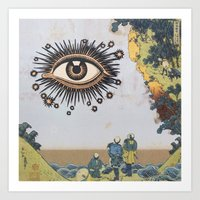 third eye Art Prints featuring Third Eye  by CUTS
