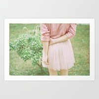 peach Art Prints featuring Peach by Mariam Sitchinava