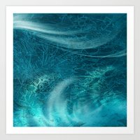 aqua Art Prints featuring aqua by haroulita