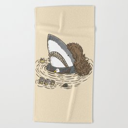 The Mullet Shark Beach Towel