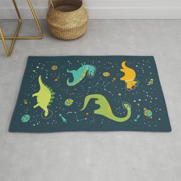 Dinosaur Space Adventure Rug