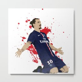 Zlatan Ibrahimovic - Paris SG Metal Print