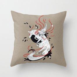 OKAMI RIBBONS Throw Pillow