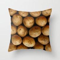 potato Throw Pillows featuring Potato Potato by MeatSteed