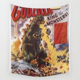 Godzilla rampage Wall Tapestry