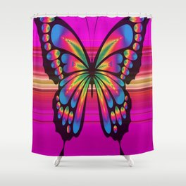 Vibrant, Decorative Butterfly Shower Curtain
