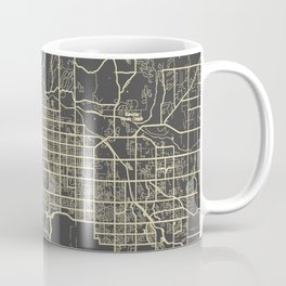 Tucson Map yellow Coffee Mug