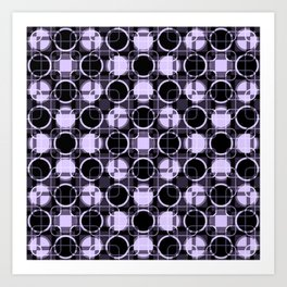 Dark and light Geometric Lavender Cirles Art Print