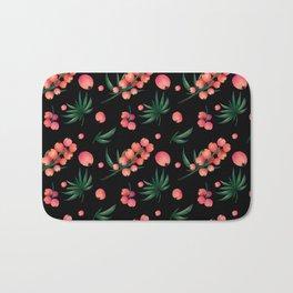 tropical botanical Bath Mat
