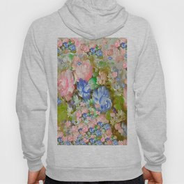 ROSES PINK AND PAINTERLY BLUE SO SHABBY CHIC Hoody