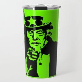 Neon Green Uncle Trump Needs You Travel Mug