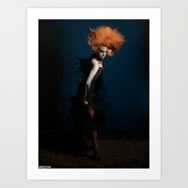 dama in piedi Art Print
