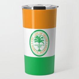 American cities-  Flag of Miami Travel Mug
