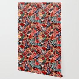 FLORAL AND BIRDS XIX Wallpaper