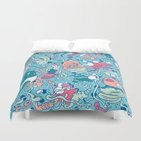 bubble Duvet Covers featuring bubble by Anukun Hamala (NHD)