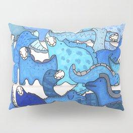 Blue Dinosaur Gradient Pillow Sham