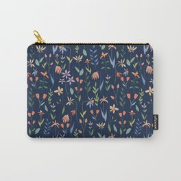 Wildflowers in the Air Navy Carry-All Pouch