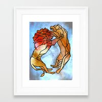 lions Framed Art Prints featuring Lions by madbiffymorghulis