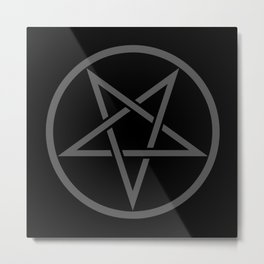 Satanic Pentagram (gray matter edit) Metal Print