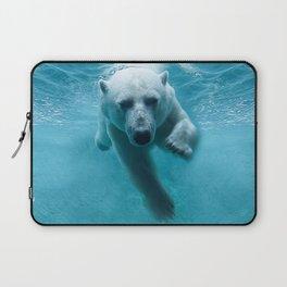 Polar Bear Swimming Laptop Sleeve