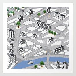 Map of city Art Print